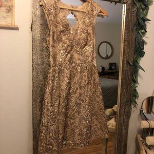 Gold ModCloth Bridesmaid Dress (size 0)